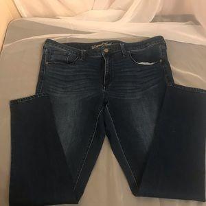 Straight skinny leg denim stretchy jeans